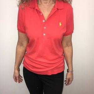 Ralph Lauren Orange Red Polo Shirt